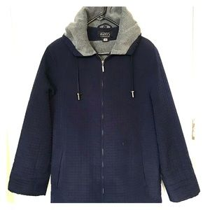 Jackets & Blazers - Aeros by Kristen Blake Navy Quilted Jacket